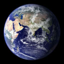 world globe - eastern hemisphere - courtesy of NASA