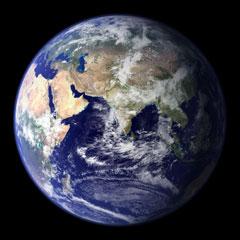 world globe - eastern hemisphere - courtesy of NASA
